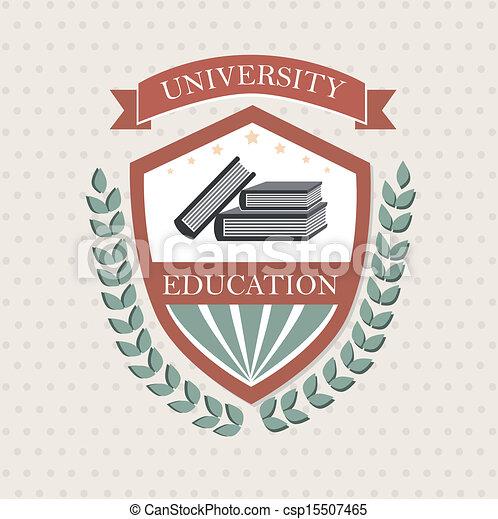 Una etiqueta universitaria - csp15507465