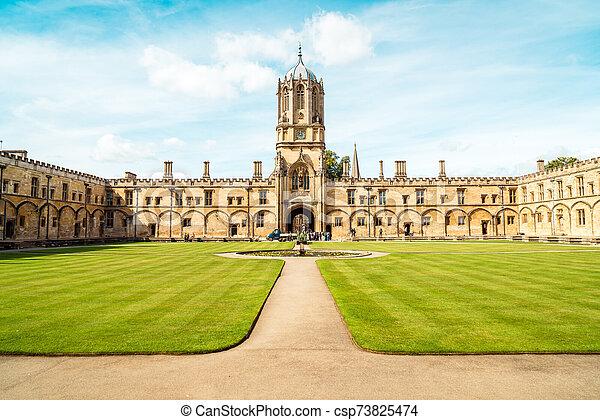 universidad, tom, cristo, arquitectura, hermoso, torre, oxford, iglesia - csp73825474