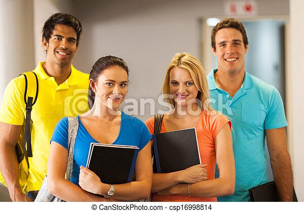 universität, junger, schueler, campus - csp16998814