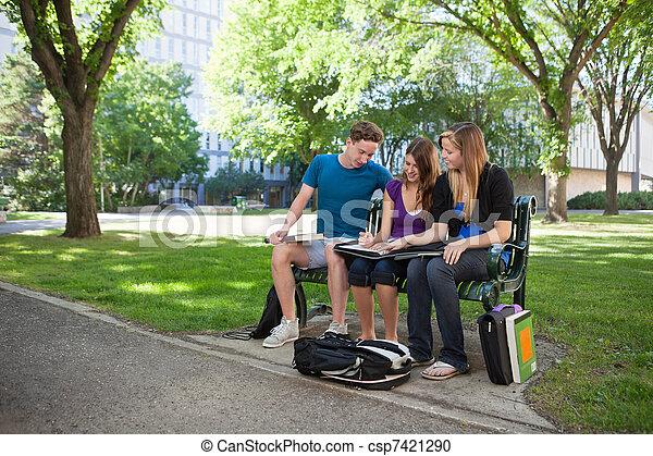University Students Doing Homework - csp7421290