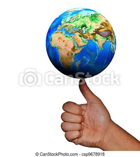 universo, mãos humanas - csp9678918