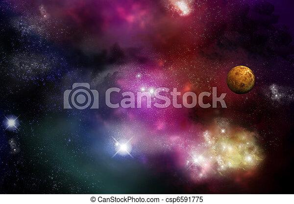 universum, nebelflecke, -, starfield - csp6591775