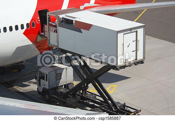 unloading a plane - csp1585887
