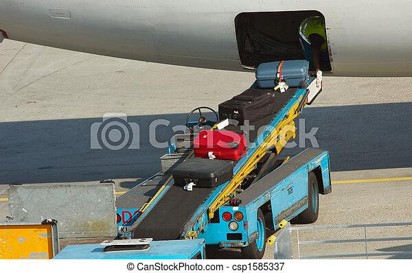 unloading suitcases - csp1585337