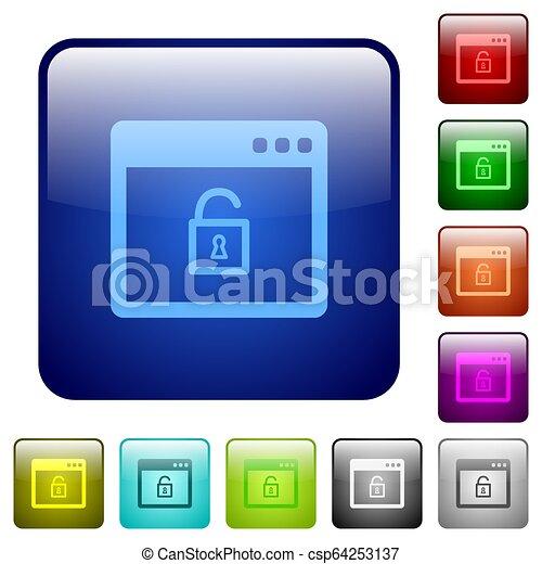 Unlock application color square buttons - csp64253137