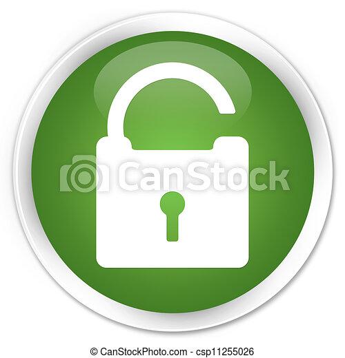 Unlock icon green button - csp11255026