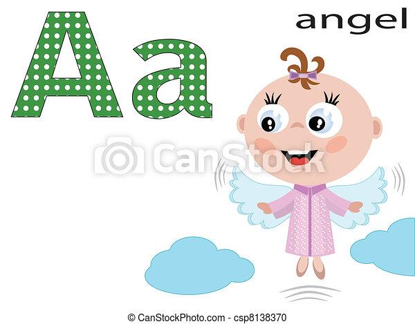 uno, alfabeto, bambini - csp8138370