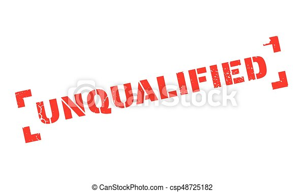 Unqualified rubber stamp - csp48725182