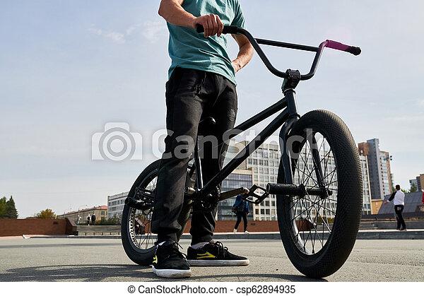 Unrecognizable BMX Rider - csp62894935