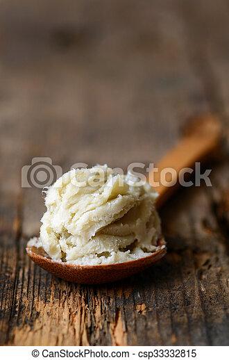 Unrefined shea butter - csp33332815