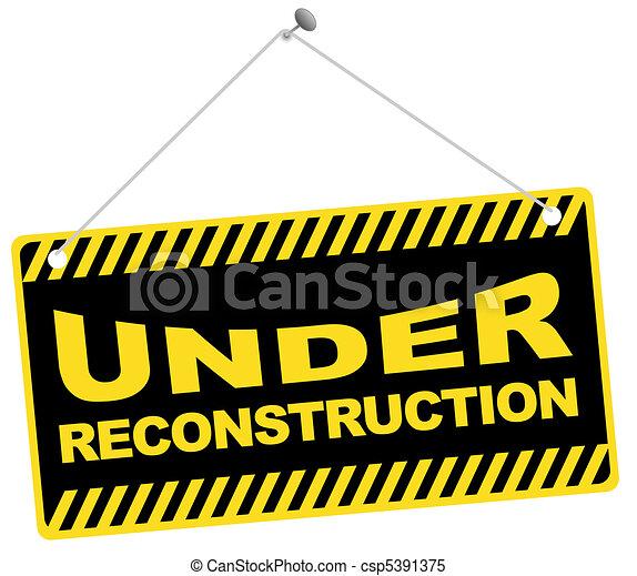 unter, rekonstruktion, zeichen - csp5391375