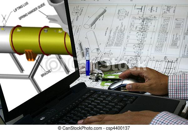 Computer hat Design unterstützt - csp4400137