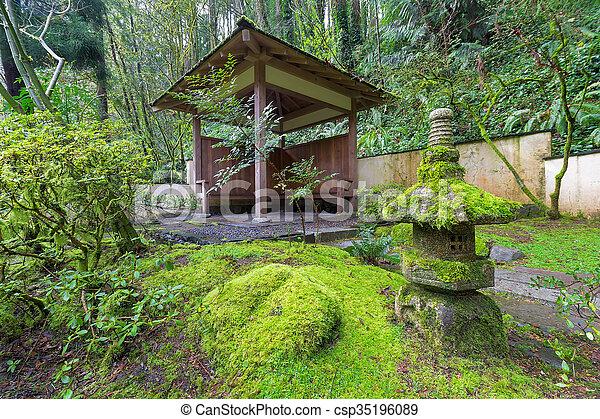 Unterstand holz arbeiten garten japaner steingarten for Garten arbeiten