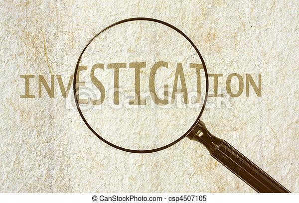 Ermittlung - csp4507105