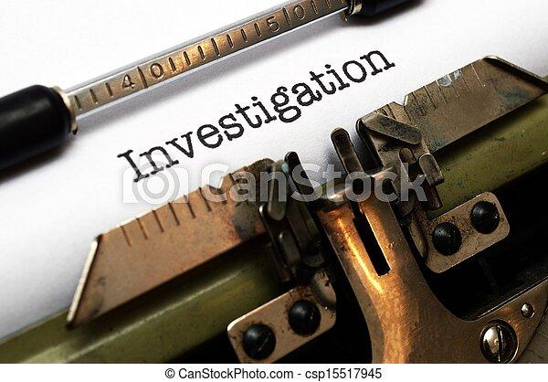 Ermittlung - csp15517945