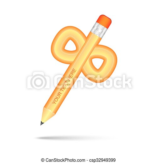 Unusual Pencil With Number Eight