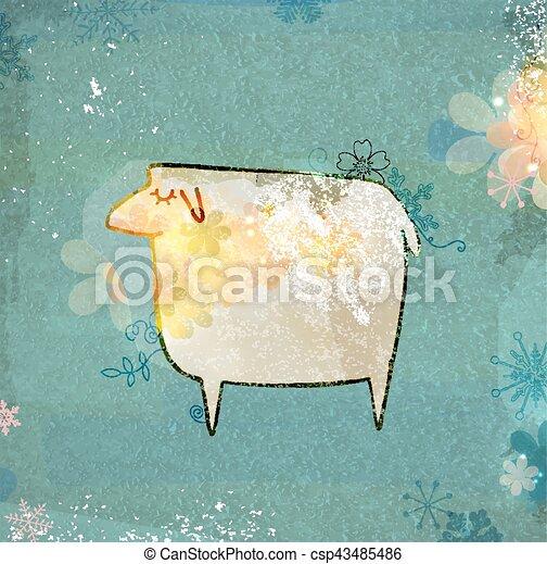 Unusual sheep. - csp43485486