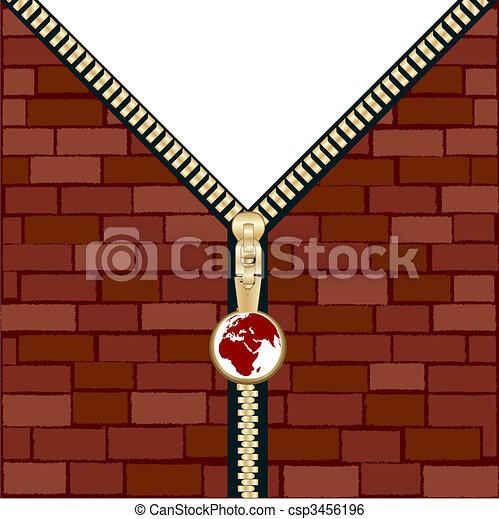 Unzipped wall - csp3456196
