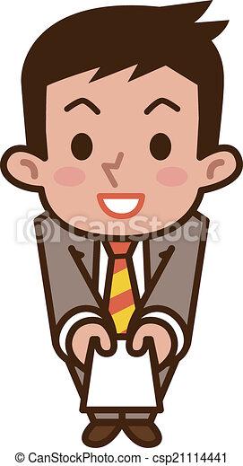 uomini affari, augurio - csp21114441