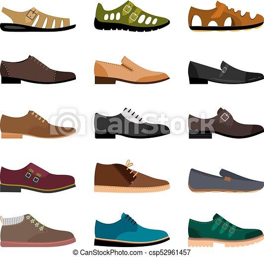 uomini, scarpe, collezione - csp52961457