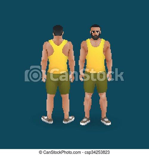 uomini, singlet, calzoncini - csp34253823