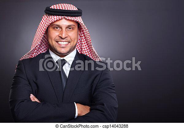 uomo affari, arabo, ricco - csp14043288