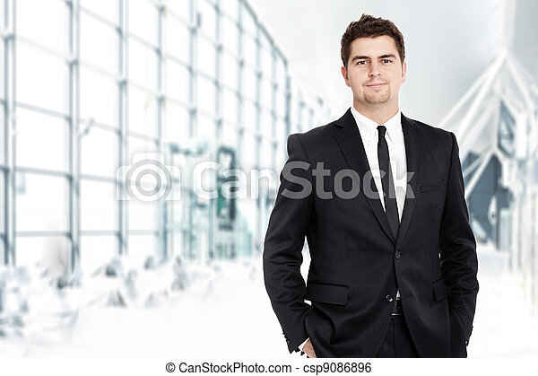 uomo affari, giovane - csp9086896