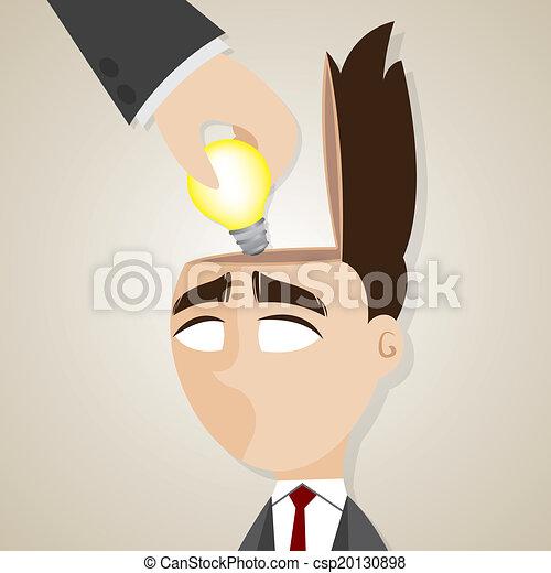 uomo affari, rubato, cartone animato, idee - csp20130898