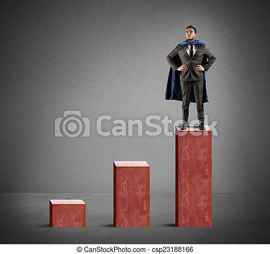 uomo affari, super - csp23188166