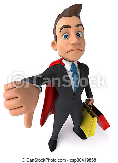 uomo affari, super - csp30419858
