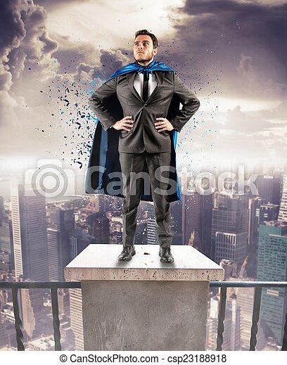 uomo affari, super - csp23188918
