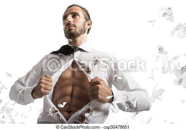 uomo affari, superhero - csp30478651