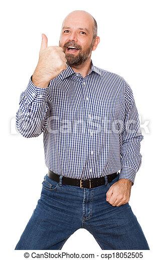 uomo barbuto - csp18052505