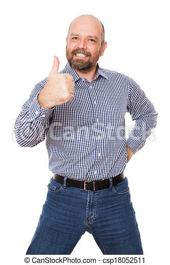 uomo barbuto - csp18052511
