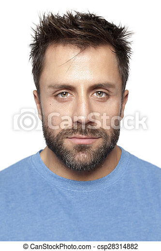 uomo barbuto - csp28314882