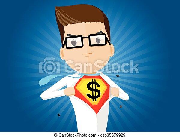 uomo, eroe, affari, super - csp35579929