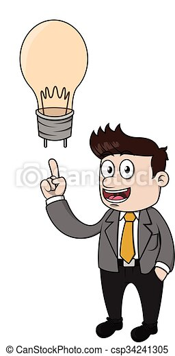 uomo, idea, affari, ottenere - csp34241305