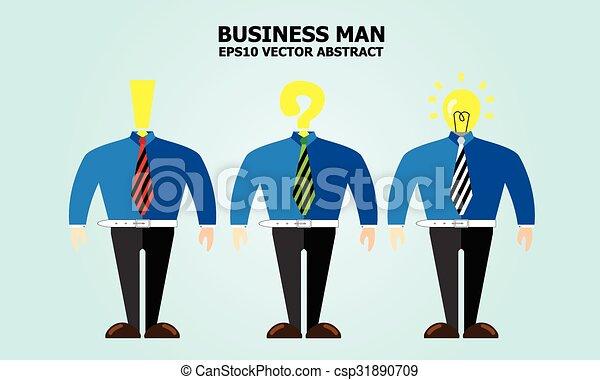 uomo, idea, affari - csp31890709