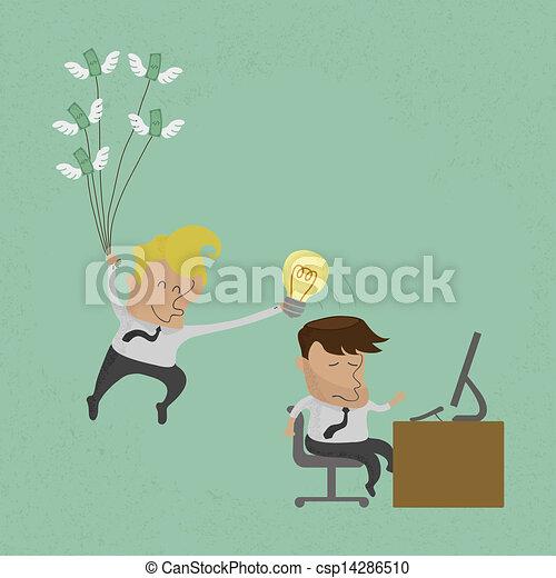 uomo, idea, rubare, affari - csp14286510