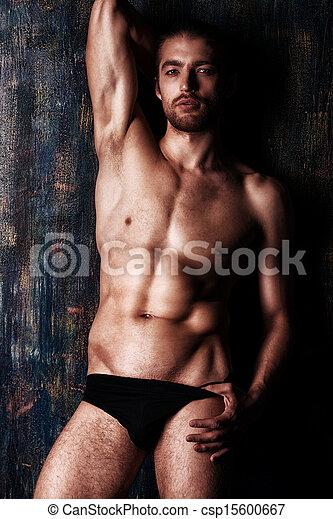 uomo, muscoloso - csp15600667