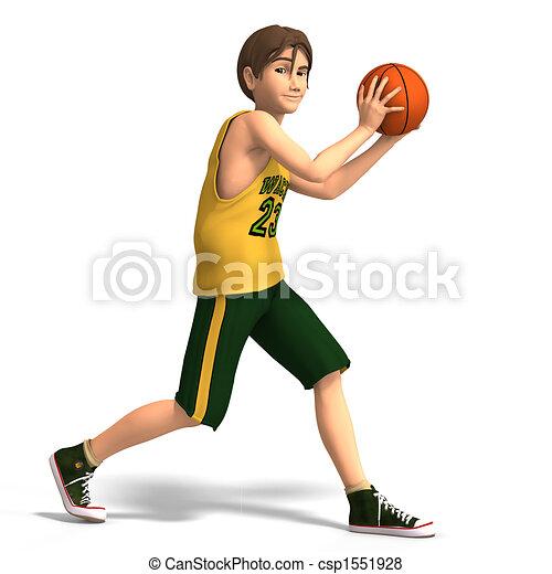 uomo, pallacanestro, giochi, giovane - csp1551928