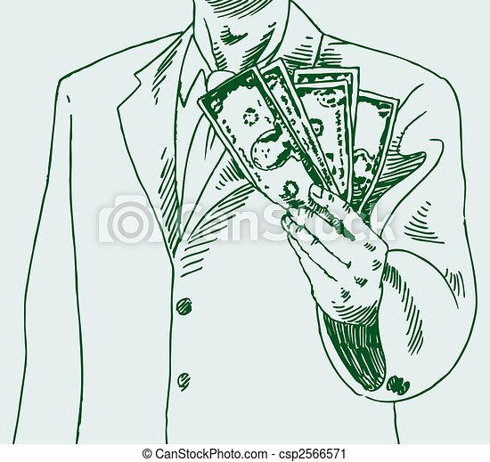 uomo soldi - csp2566571
