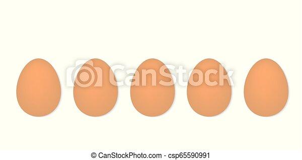 uova, fila - csp65590991