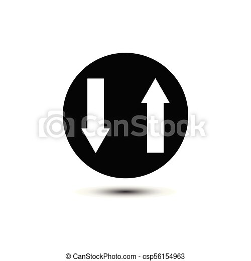 Up and down arrows icon vector  solid pictogram isolated on white  Exchange  symbol