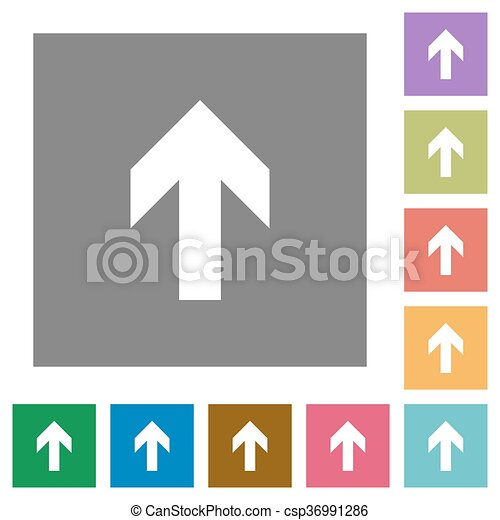 Up Arrow Square Flat Icons Up Arrow Flat Icon Set On Color Square