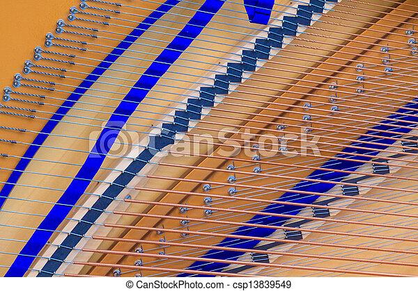 up), ausstellung, (close, großartig, inneneinrichtung, klavier, bezug, struktur - csp13839549