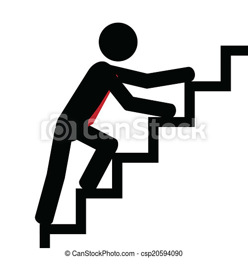 Up on the stairs - csp20594090