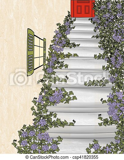 Up the Back Stairs - csp41820355