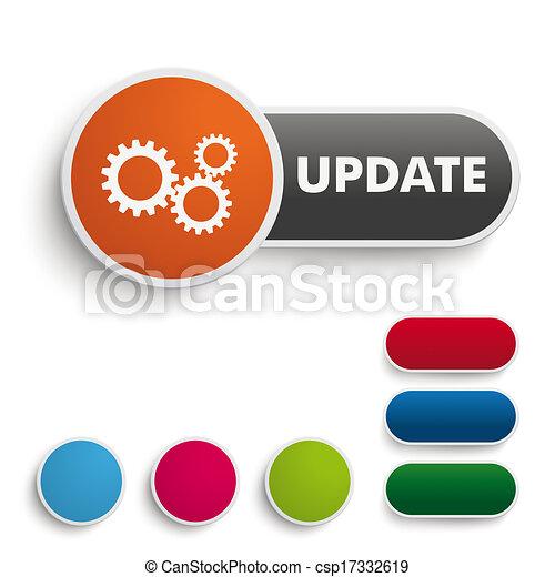 Update Button Black Orange PiAd - csp17332619