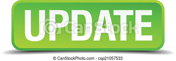 Update green 3d realistic square isolated button - csp21057533